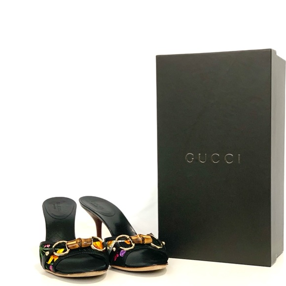 Gucci Floral heel size 6.5